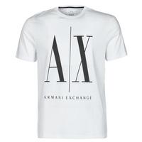 Vêtements Homme T-shirts manches courtes Armani Exchange HULO Blanc