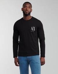 Vêtements Homme T-shirts manches longues Armani Exchange 8NZTPL Noir