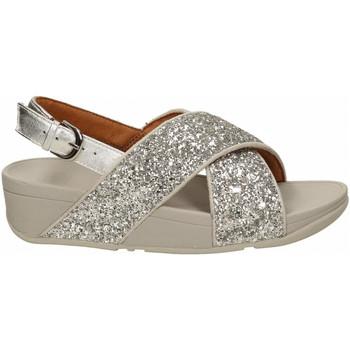 Chaussures Femme Sandales et Nu-pieds FitFlop LULU GLITTER BACK STRAP SANDAL silver