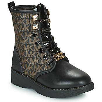 Chaussures Fille Boots MICHAEL Michael Kors HASKELL Noir / Doré