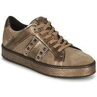 Chaussures Femme Baskets basses Geox LEELU Marron / Doré