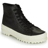 Chaussures Femme Baskets montantes Superga 2341 ALPINA NAPPA Noir