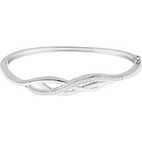 Montres & Bijoux Femme Bracelets Cleor Jonc  en Argent 925/1000 Blanc Blanc