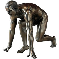 Maison & Déco Statuettes et figurines Retro Statuette Véronèse en résine Homme nu Doré