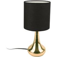 Maison & Déco Lampes à poser Nos engagements RSE Lampe à poser touch dorée noir Noir