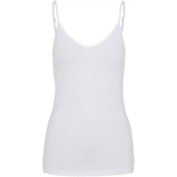 Vêtements Femme Débardeurs / T-shirts sans manche Pieces Top sans manches Taille : F Blanc XS Blanc