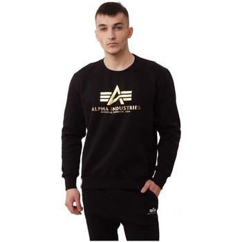 Vêtements Homme Sweats Alpha Basic Sweater Foil Print Noir