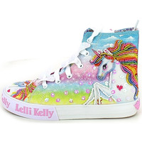 Chaussures Fille Baskets montantes Lelli Kelly 9099.08_32 Blanc