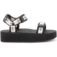 Chaussures Femme Sandales sport Chiara Ferragni Sandale Chiara Ferragni Logomania noire Noir