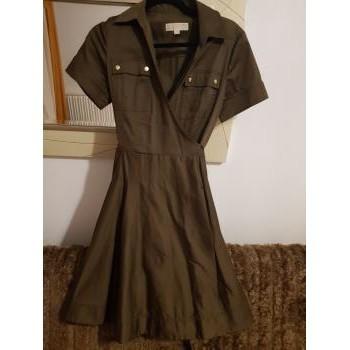 Vêtements Femme Robes courtes Michael Kors Robe porte feuille Kaki