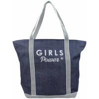 Sacs Femme Cabas / Sacs shopping Girls Power Sac cabas  Gaby Jean denim Multicolor