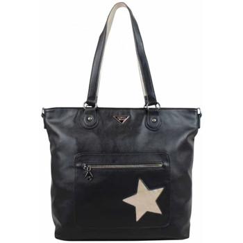 Sacs Femme Cabas / Sacs shopping Girls Power Sac cabas  ARIA Noir étoile métallisée Or Multicolor