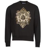 Vêtements Homme Sweats Versace Jeans Couture VEMBLEM LEAF Noir / Doré