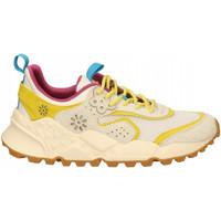 Chaussures Femme Baskets mode Flower Mountain KOTETSU white-yellow