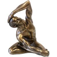 Maison & Déco Statuettes et figurines Retro Statuette BodyTalk en résine Homme nu 22 cm - Véronèse Doré