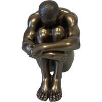 Maison & Déco Statuettes et figurines Retro Figurine Véronèse Body Talk en résine - Homme assis 11 cm Doré