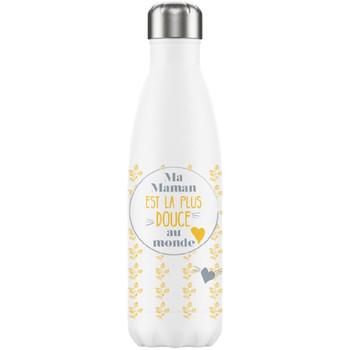 Maison & Déco Bouteilles Gadget Et Bazar Bouteille isotherme en inox Maman La plus douce Blanc