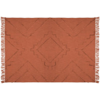 Maison & Déco Plaids, jetés Atmosphera Jeté de lit tufté Inca 130x180 cm terracotta Orange