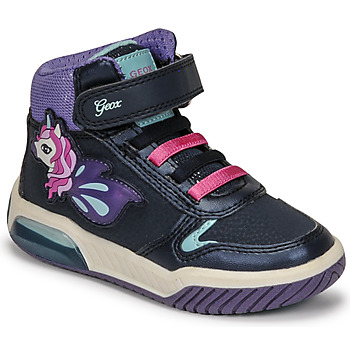 Chaussures Fille Baskets montantes Geox INEK Violet