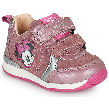 Chaussures Fille Baskets basses Geox RISHO Rose
