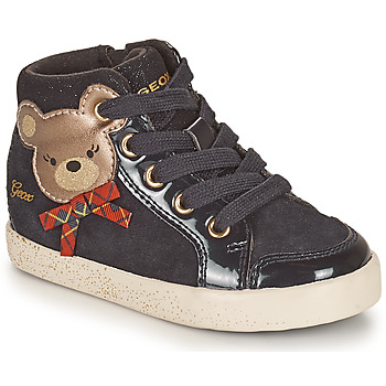 Chaussures Fille Baskets montantes Geox KILWI Noir