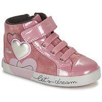 Chaussures Fille Baskets montantes Geox KILWI Rose