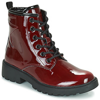 Chaussures Fille Boots Geox CASEY Bordeaux