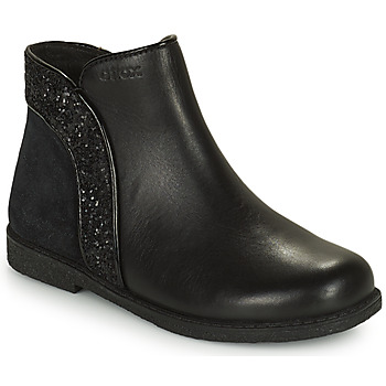 Chaussures Fille Boots Geox SHAWNTEL Noir