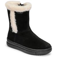 Chaussures Fille Bottes ville Geox REBECCA Noir / Blanc