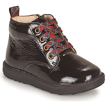 Chaussures Fille Boots Geox HYNDE Noir