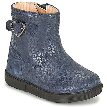 Chaussures Fille Bottes ville Geox HYNDE Bleu