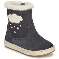 Chaussures Fille Bottes ville Geox TROTTOLA Noir