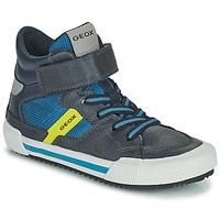 Chaussures Garçon Baskets montantes Geox ALONISSO Bleu