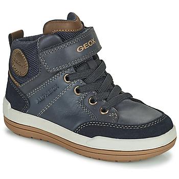 Chaussures Garçon Boots Geox CHARZ ABX Marine