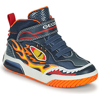 Chaussures Garçon Baskets montantes Geox INEK Marine / Rouge