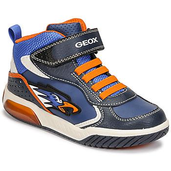 Chaussures Garçon Baskets montantes Geox INEK Bleu / Orange