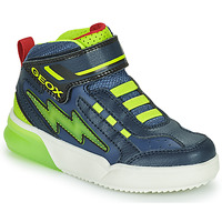 Chaussures Garçon Baskets montantes Geox GRAYJAY Marine / Vert