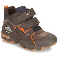 Chaussures Garçon Boots Geox BULLER ABX Marron
