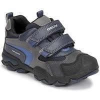 Chaussures Garçon Boots Geox BULLER ABX Marine / Gris