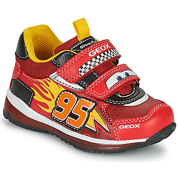 Chaussures Garçon Baskets basses Geox TODO Rouge / Jaune
