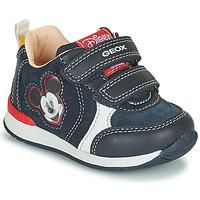 Chaussures Garçon Baskets basses Geox RISHO Marine