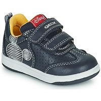 Chaussures Garçon Baskets basses Geox NEW FLICK Marine