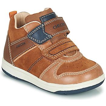 Chaussures Garçon Baskets montantes Geox NEW FLICK Marrron