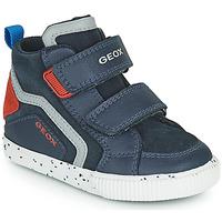 Chaussures Garçon Baskets montantes Geox KILWI Marine