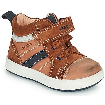 Chaussures Garçon Baskets montantes Geox BIGLIA Marron