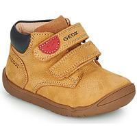 Chaussures Garçon Boots Geox MACCHIA Marron