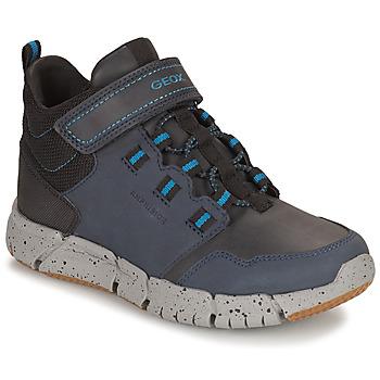 Chaussures Garçon Boots Geox FLEXYPER ABX Marine