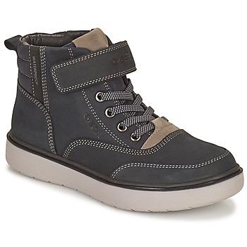 Chaussures Garçon Boots Geox RIDDOCK WPF Marine