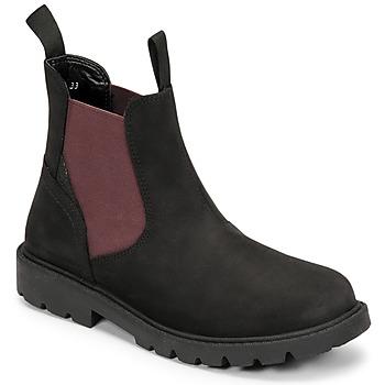 Chaussures Garçon Boots Geox SHAYLAX Noir / Bordeaux
