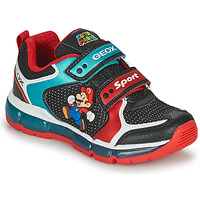 Chaussures Garçon Baskets basses Geox ANDROID Noir / Bleu / Rouge